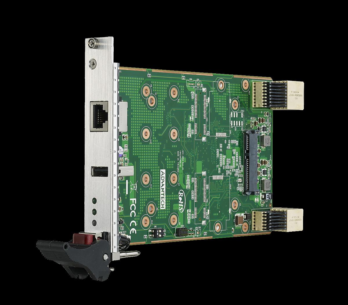 MIC-3954 3U CompactPCI® Serial Peripheral Board with PCIe® Mini Card or Storage Function